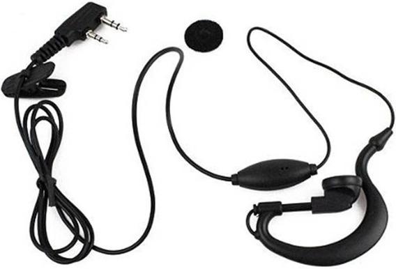 Fone De Ouvido C/ Microfone P/ Rádio Comunicador