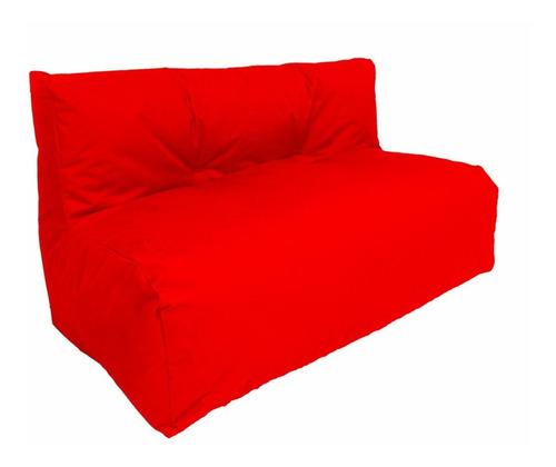 Sofa Puff En Lona 2 Puestos - Nuevo - Estilo Relax