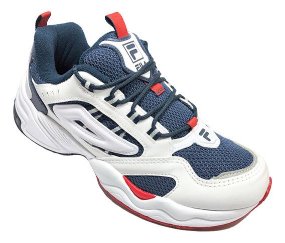 Tênis Fila Attrek Footwear Branco E Marinho - Original