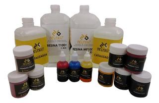 Kit Basico De Resina Epoxica Y Pigmentos