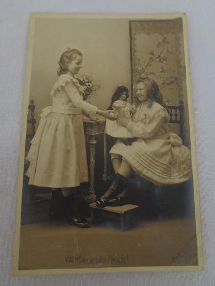Cartão Postal Temático Brinquedo Antigo Boneca 03#