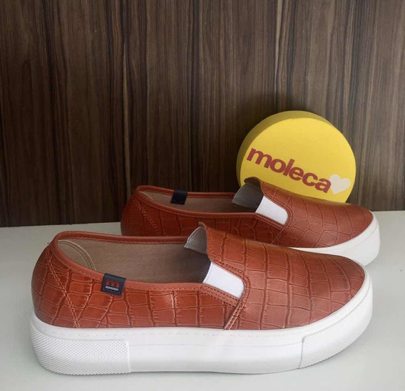 Tênis Slip On Croco Neo Moleca 5658.100 Blush