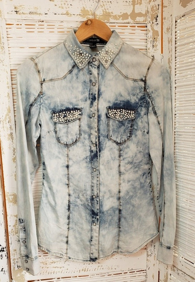 Camisa De Jeans Forever 21