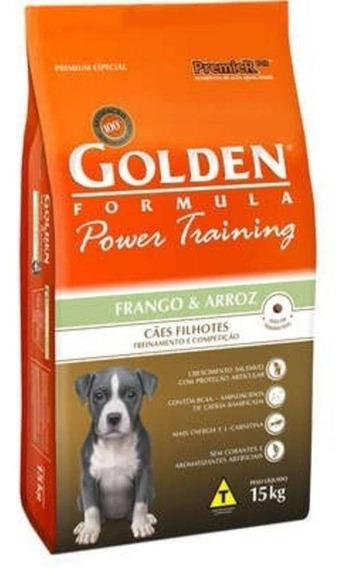 Ração Golden Power Training Cães Filhotes Frango 15kg