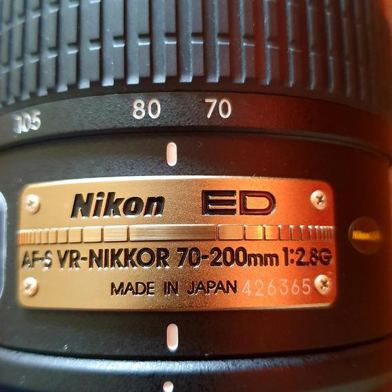 Nikon E D Nikkor A F S / V R 70 - 200mm / F 2.8 G I F