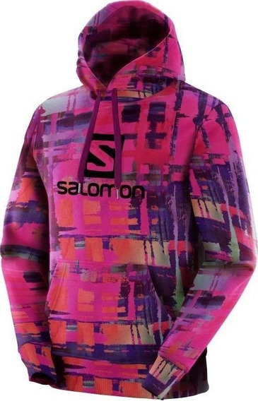 Moletom Salomon Logo Hoodie Graphic Masc Rose Violeta Salo
