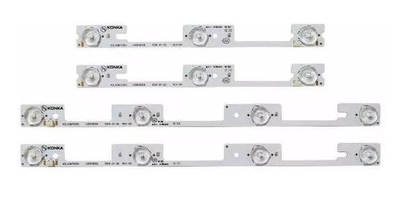 Kit Led Novo 4 Barras Aluminio 32l2400 Dl3245i Dl3253