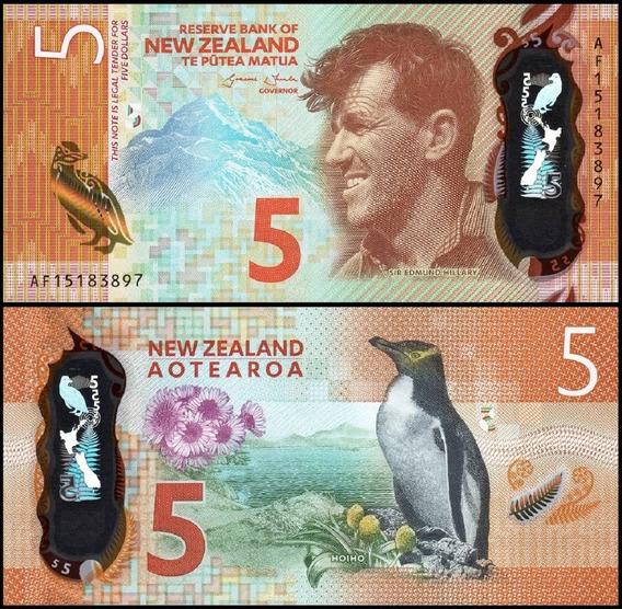 New Zealand Nova Zelândia P-191 Fe 5 Dollars 2015 Polímero