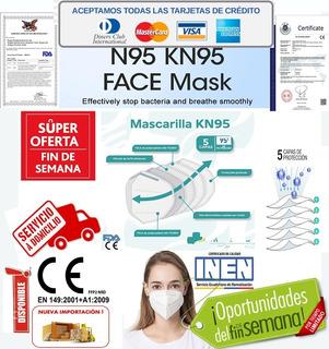Mascarilla N95 Kn95 Ffp2,5 Capas,ce,fda Importa O F E R T A