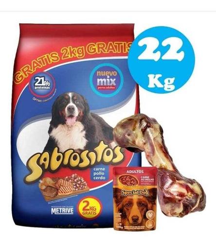 Imagen 1 de 2 de Sabrositos Adulto Mix De Carnes 20+2kg + Regalo