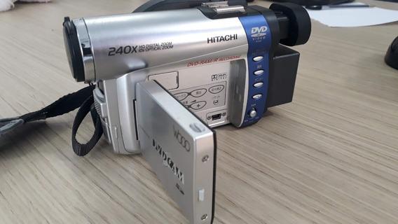 Filmadora Mini Dvd Hitachi Completa + Dvd-r 30min + Bateria