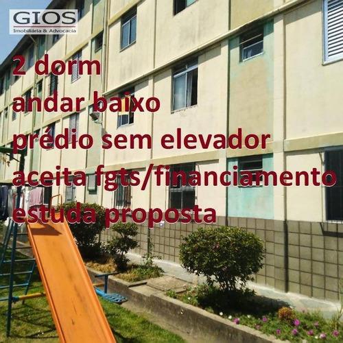 Apartamento À Venda, 50 M² Por R$ 185.000,00 - Jardim Antártica - São Paulo/sp - Ap0394
