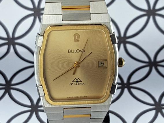 Relógio Bulova Millenia 83382 (suiço) Unisex, Banho Ouro.