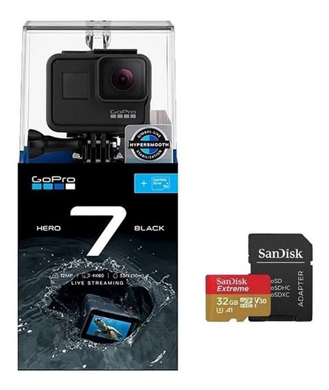 Gopro Hero 7 Black + Cartão 32gb Extreme + Nota Fiscal Eletr