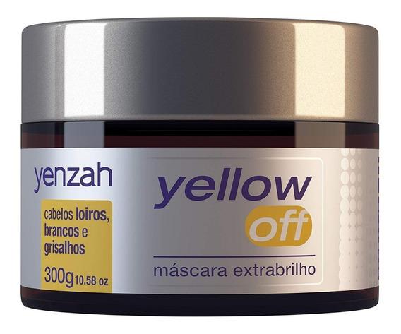 Yenzah Yellow Off Máscara Extra Brilho 300g Produto Original