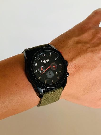 Relógio Diesel Cronógrafo Dz4189 - Military Black Dial