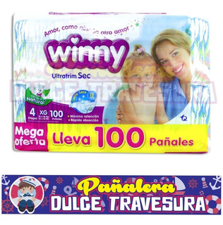 Pañal Winny Etapa 4 Xg X100 - Unidad a $889