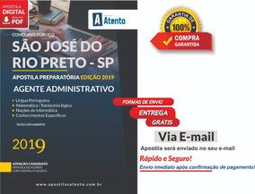 Apostila São José Do Rio Preto 2019 - Agente Administrativo