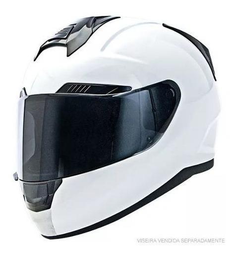 Capacetes Ufx Branco Fechado Moto Protecao Original