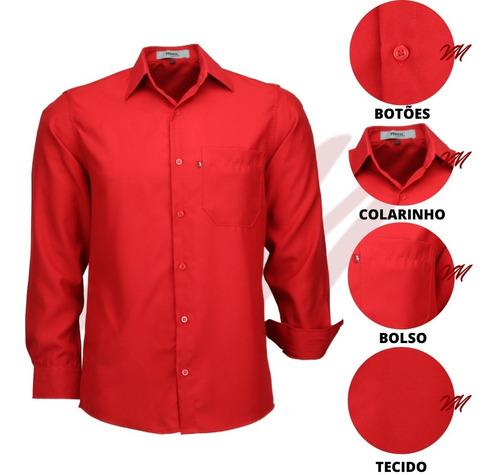 Imagem 1 de 3 de Camisa Social Masculina Facil De Passar Otimo Presente 832ml