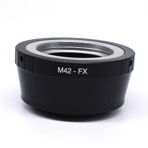 Adaptador Lente M42 P/ Fuji Fx X-pro2 X-t2 X-t20 X-t10 +nf