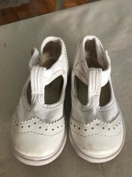 Sandalia Zapato Niña Guillerminas Blancas Talle 20 , 12,5cm