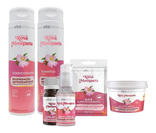 Kit Lançamento Rosa Mosqueta Regeneração Antioxi Vita Seiva