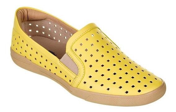 Tênis Feminino Piccadilly Napa Amarelo Palido 961004