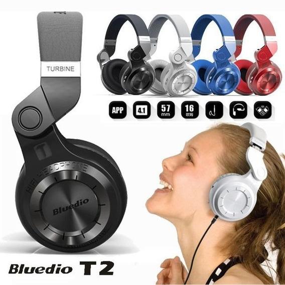 Fone De Ouvido Bluedio T2 Turbine Bluetooth Original S/ Fio