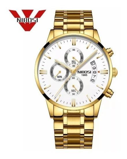 Relógio De Pulso Homem Masculino Nibosi Top Na Moda Atual Altamente Resistente Anti-risco E Safira Blindado Perfeito