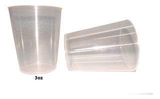 Vaso Mini Shot Vasito Plastico 3oz Paquete 25 Unidades