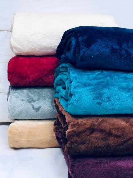 Frazada Termica King Size Simil Piel De Flannel Super Suave Calidad Premium