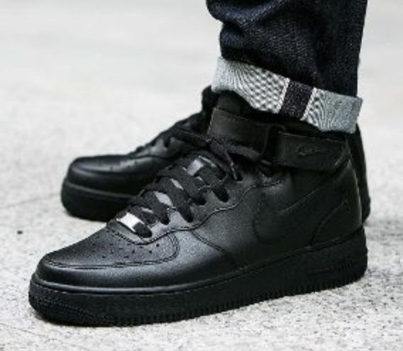 Nike Air Force Botitas Negras Únicas Impecables