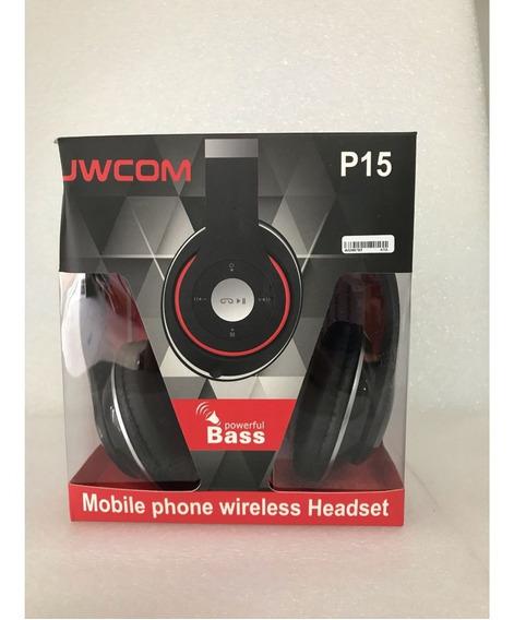 Fone De Ouvido Bluetooth C/rádio Fm Fo-bt-p15 Preto Hardline