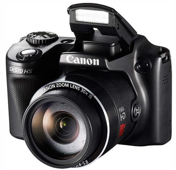 Câmera Canon Powershot Sx510 Hs 12.1 Mp Zoom 30x Wi-fi C/ Sd