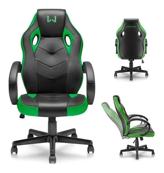 Cadeira Gamer Warrior Ajustável E Almofadado Multilaser