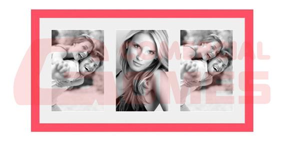 Porta Retrato Frame Insta Coral Para 03 Fotos 10x15 Cm 68888