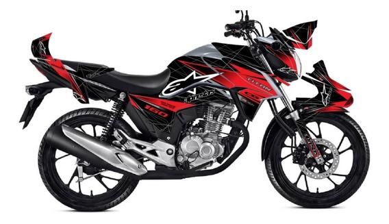 Kit Adesivo Gráfico Honda Cg Titan 160