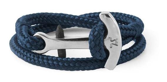 León Blanco - Brazalete Ancora Pro Azul Talla S