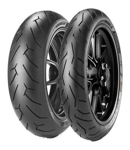 Kit Cubiertas Pirelli Diablo Rosso 2 110 70 17 150 60 17 Mg
