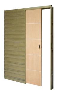 Puerta Corrediza Cedro Y Aluminio 70 X 200