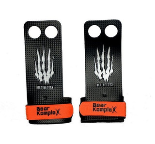 Bear Komplex Hand Grip Crossfit Games - Carbono - 2 Holes