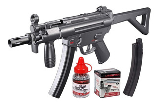 Pistola Metralleta Rifle Hk Mp5 + 1500 Postas + 10 Co2