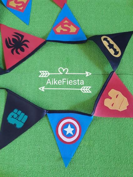 Banderines (pack X 2) Pj Mask-batman-superheróes