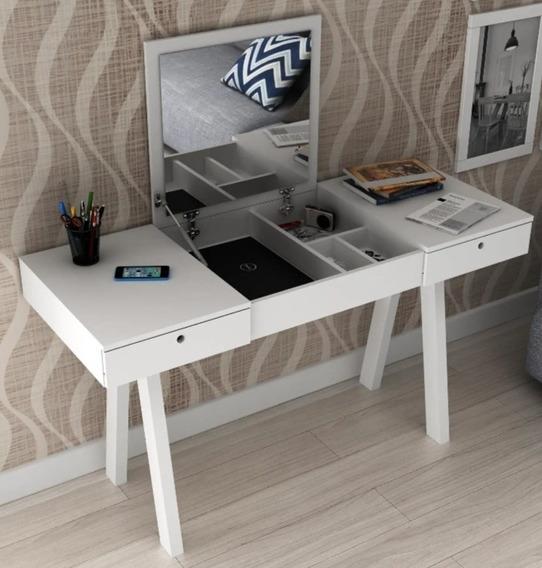 Penteadeira Escrivaninha Com 2 Gavetas Branco