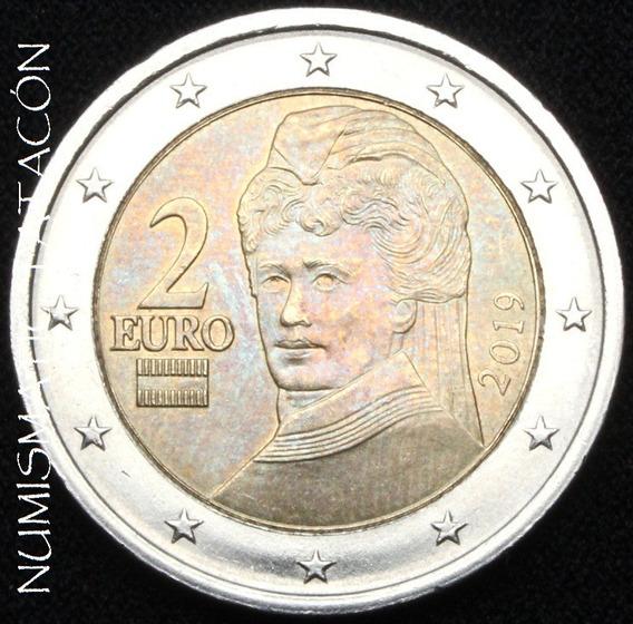 Moneda Austria 2 Euros 2019 Bertha Von Suttner- Sin Circular