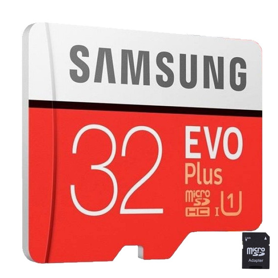 Cartão Micro Sd Samsung 32gb Evo Plus 95mb/s + Adaptador Sd