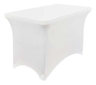Mantel Tipo Lounge Blanco Para Mesa Plegable 1.22 X 61 Cms