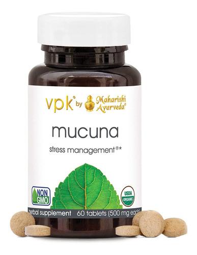 Mucuna Orgánica 60 Pastillas De Hierbas - 500 Mg Ea. El Sist