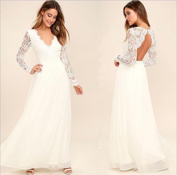 Vestido De Novia Fiesta Importada.civil. Super Hermosa Yl758